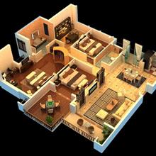 家居3d效果圖全套